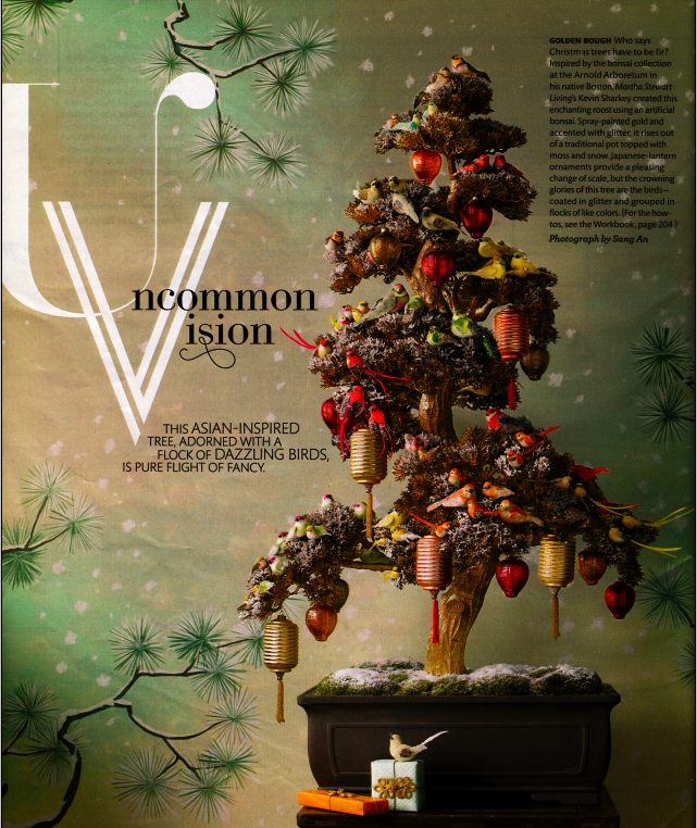 this faux bonsai christmas tree caught my eye in this months martha stewart living